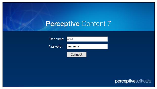 Screen Shot - Perceptive Content Login Scren