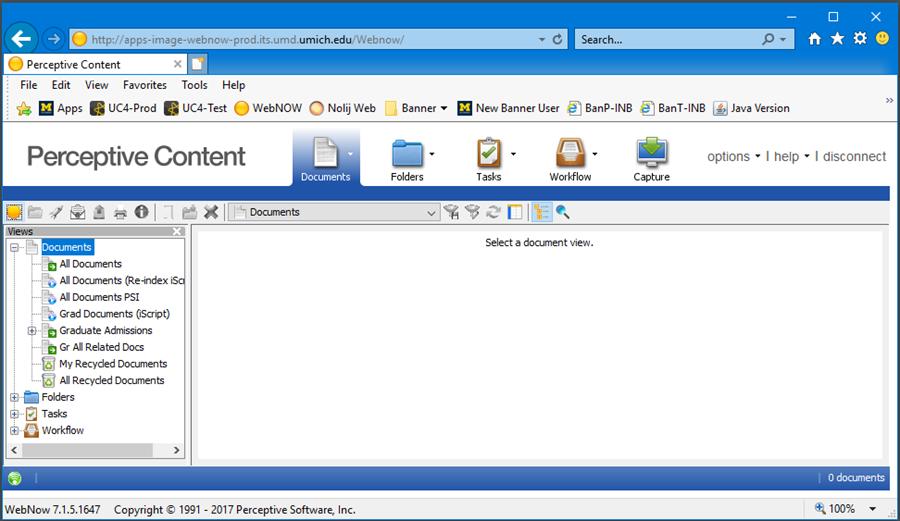 Screen Shot - WebNOW interface