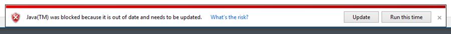 Screen Shot - Browser Warning for Java