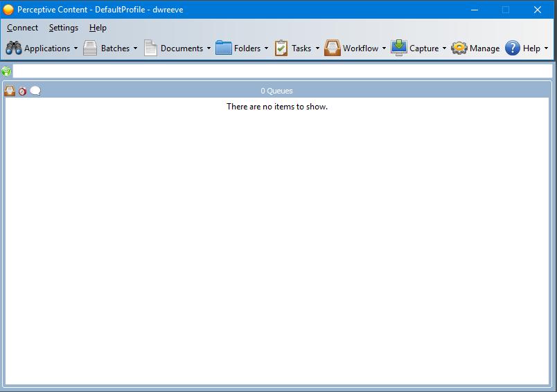 Screen Shot - Perceptive Content Desktop Client