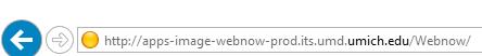 Screen shot - url in browser address bar